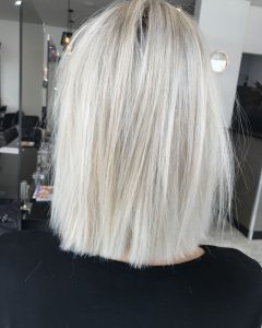 Super Straight Ash Blonde Bob Hairstyles