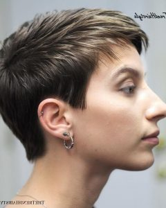 Tapered Pixie Hairstyles with Extreme Undercut