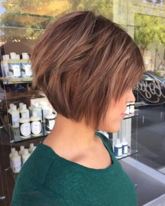 A Very Short Layered Bob Hairstyles