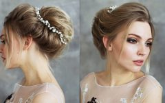 Bohemian Braided Bun Bridal Hairstyles for Short Hair