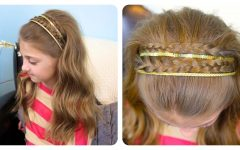 Double Headband Braided Hairstyles with Flowers