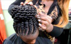 Ghana Braids Bun Hairstyles