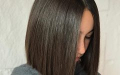 Long Bob Middle Part Hairstyles