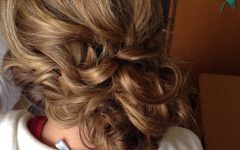 Loose Updo Wedding Hairstyles with Whipped Curls