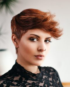 Razor Cut Pink Pixie Hairstyles with Edgy Undercut