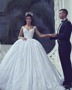 Sleek And Big Princess Ball Gown Updos For Brides