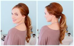 Twisted Retro Ponytail Updo Hairstyles