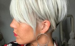 White Bob Undercut Hairstyles with Root Fade