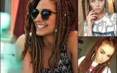 Cornrows Hairstyles with White Color