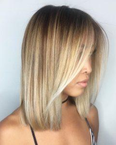 Bouncy Caramel Blonde Bob Hairstyles