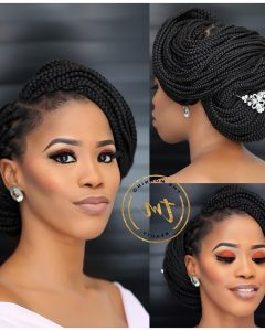 Box Braids Wedding Hairstyles