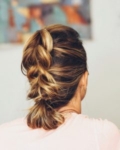 Braided Lob Hairstyles