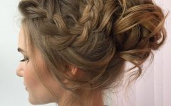 Messy Updo Hairstyles with Free Curly Ends