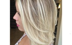 Mid-length Layered Ash Blonde Hairstyles