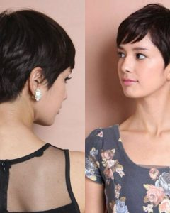 Textured Pixie Asian Hairstyles