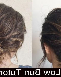 Twisted Low Bun Hairstyles for Prom
