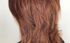 Wispy Layered Hairstyles In Spicy Color