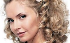 Curly Medium Length Hair Wedding Hairstyles