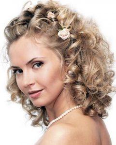 Curly Medium Length Hair Wedding Hairstyles
