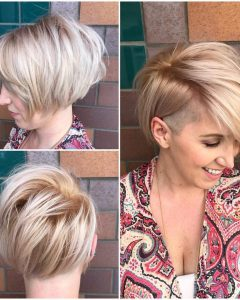Blonde Bob Hairstyles With Tapered Side