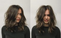 Center Part Medium Hairstyles