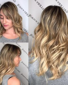 Blonde Color Melt Hairstyles