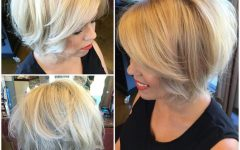 Short Stacked Bob Blowout Hairstyles