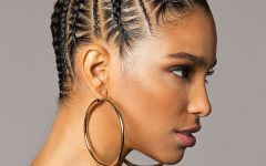 Cornrows Hairstyles in a Bun